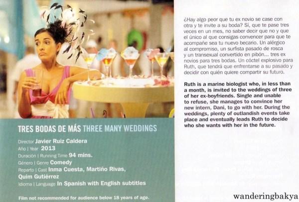 Summary and other details of Tres Bodas de Más (Three Many Weddings) by Javier Ruiz Caldera
