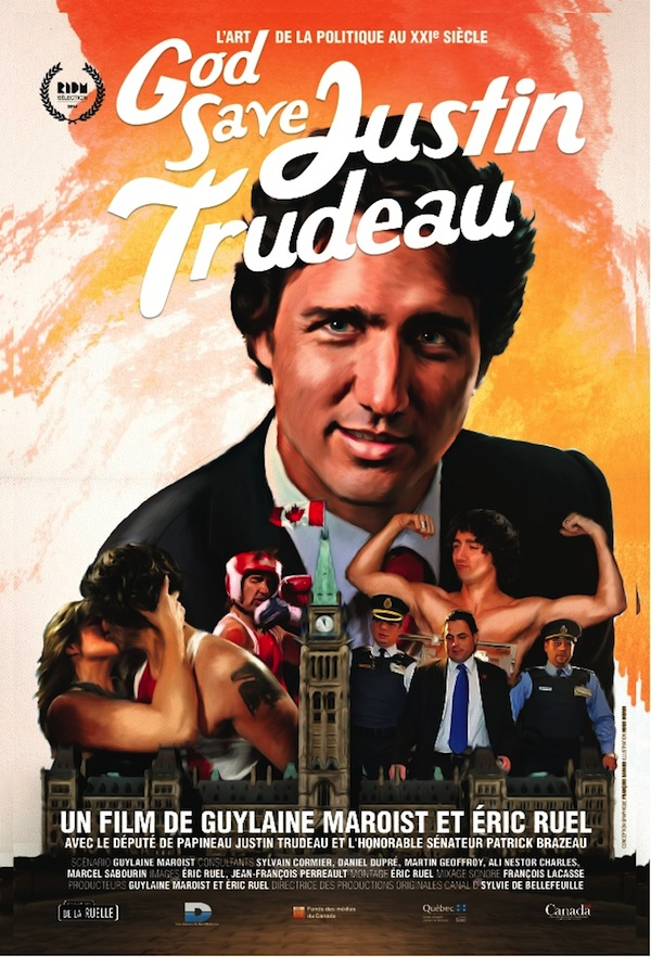 The rendition of a poster based on Canadian PM Justin Trudeau win in a charity boxing match. Photo from ctvnews.ca