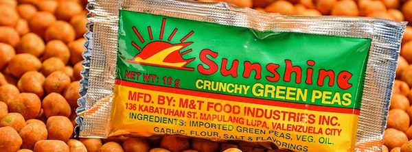 90s favorite snack: Sunshine Green Peas. Photo from ideastalk.ph