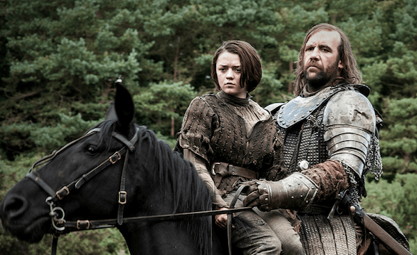 Game of Thrones' Arya Stark and The Hound. Photo from metro.co.uk