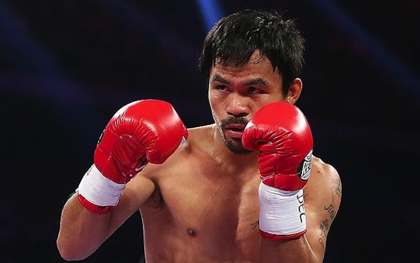 Manny Pacquiao in action. Photo from telegraph.co.uk