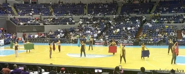 UP Pep Squad during the Ateneo Blue Eagles vs UP Fighting Maroons game.