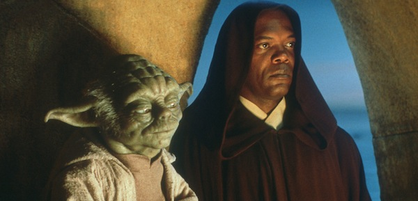 Star Wars' Jedi masters Yoda and Mace Windu. Photo from dispatch.com