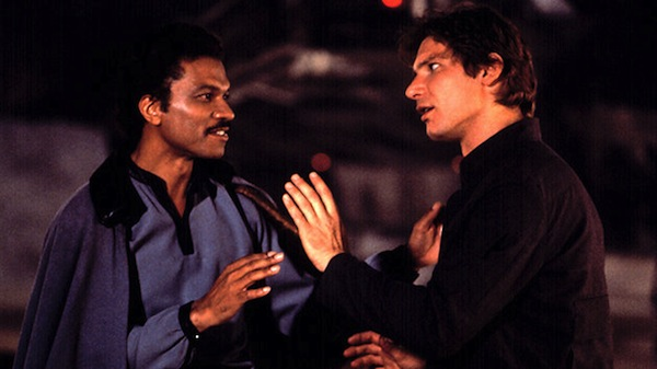 Star Wars' Lando Calrissian and Han Solo. Photo from eatgeekplay.com