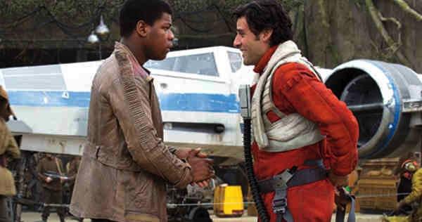 Star Wars: The Force Awakens' Finn (John Boyega) and Poe Dameron (Oscar Isaac). Photo from movieweb.com