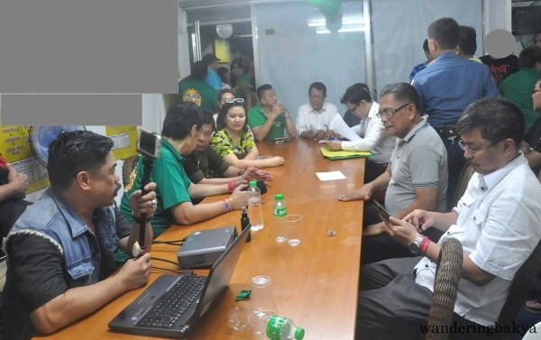 Mayor Duterte in a closed-door meeting with the leaders of MRRD NECC