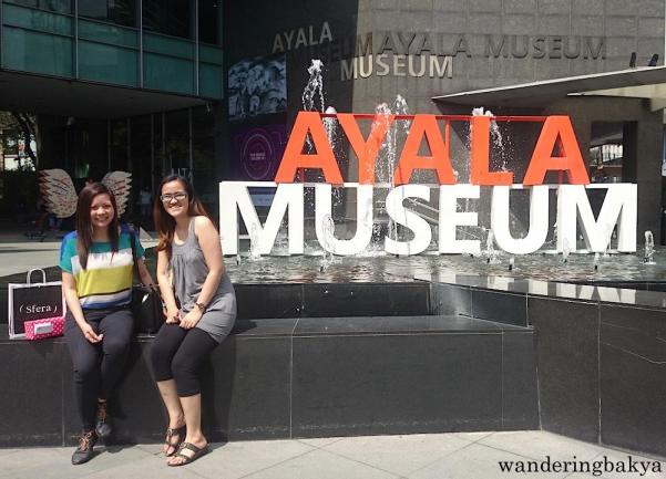 With Mai and my head wings in front of Ayala Museum before our lunch.