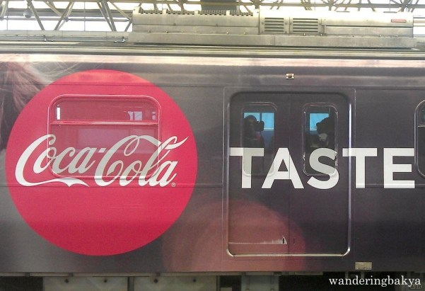 I saw this just today. Coke has a new ad on LRT Line 2.