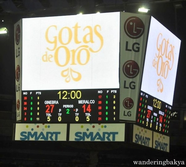 First Quarter score between Barangay Ginebra and Meralco Bolts