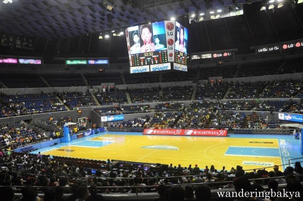 Inside Smart-Araneta Coliseum during PBA's Barangay Ginebra vs. Meralco Bolts Game