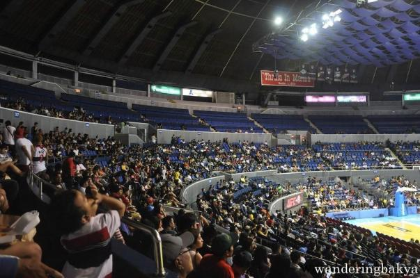 Smart-Araneta Coliseum seats around 20,000. Looking for someone in the audience is like looking for a needle in a haystack.