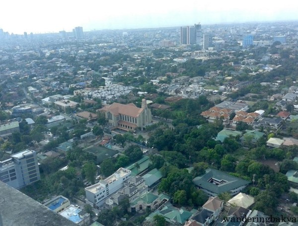 View from the top: residential area in Quezon City and part of Manila City