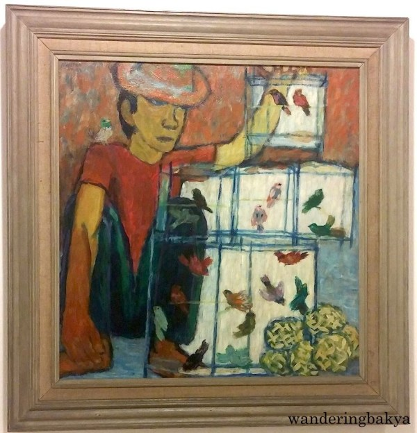 The Bird Seller, 1974 (Oil on wood panel). Collection of Juan and Esperanza Gatbonton.