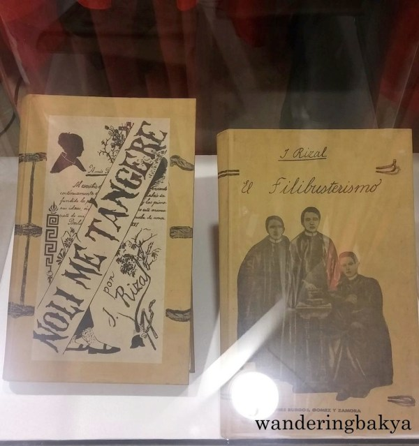 Facsimile copies of Jose Rizal's Noli Me Tangere at El Filibusterismo