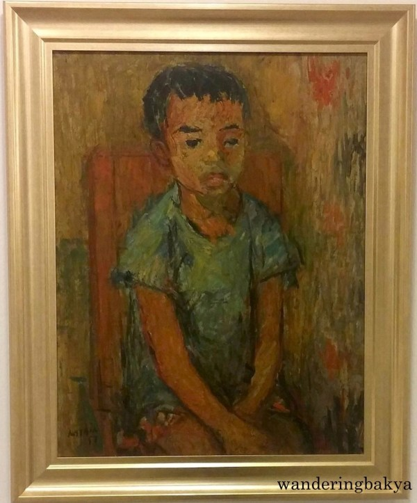 Portrait of a Boy, 1957 (Oil on plywood). Collection of Irvin Go.