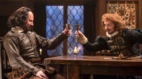 Upstart Crow's William Shakespeare (David Mitchell) and Christopher Marlowe (Tim Downie). Photo from bbc.co.uk