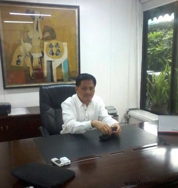 "TESDA Director General Guiling ""Gene"" Mamondiong on his first day on the job."
