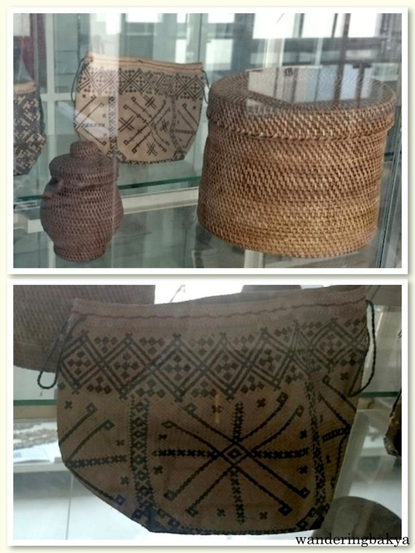 Woven Rattan Jar-like Basket from Mindoro (top) and Mangyan Woven Pouch or Bag from Mindoro (bottom). Photos by SPRDC.