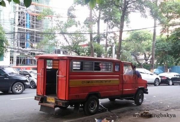 CCP Complex – Vito Cruz – Taft LRT jeepney also known as the orange jeep.