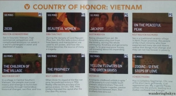 World Premieres Film Festival 2016 Country of Honor: Vietnam films