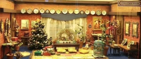 Miniature Christmas room