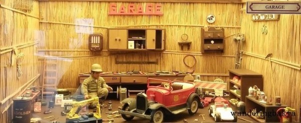 Miniature garage at Museum of Miniatures