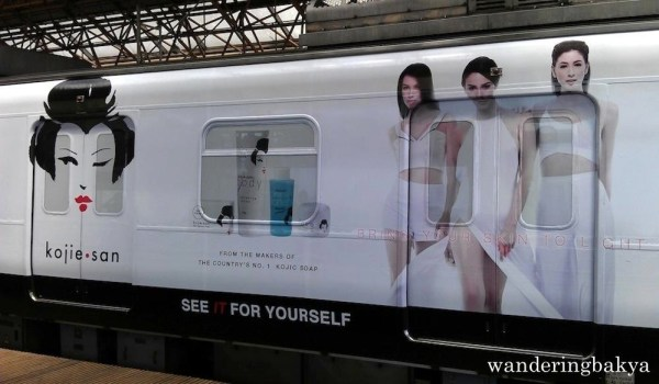 The Kojie San wrap ad on LRT Line 2 train is fairly new.