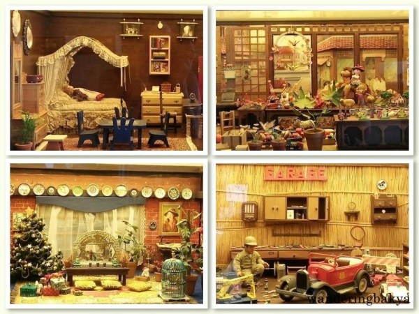 Some of the miniature rooms found in Museum of Miniatures