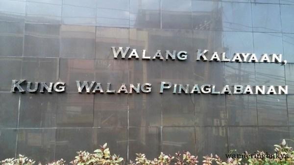 Walang Kalayaan, Kung Walang Pinaglabanan (There is no independence, if there is no Pinaglabanan)