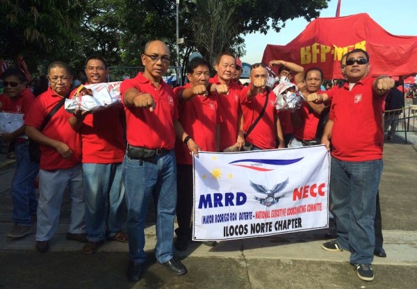 MRRD NECC – Ilocos Norte Chapter was also at the first anniversary of the People's Call. Photo by Miley Tray.