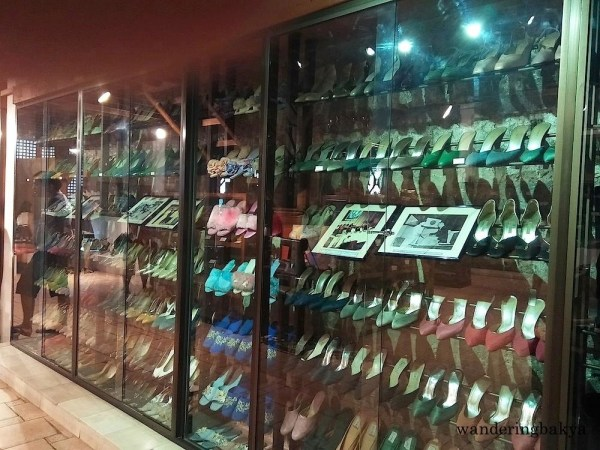 Some of the shoe collection of Former First Lady Imelda Marcos that are exhibited at Shoe Museum in Marikina City. The shoes come in different forms and colors.