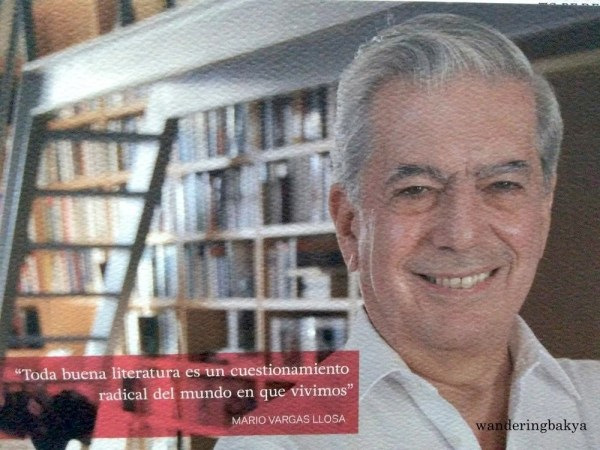 One of the materials given to the guests who attended Mario Vargas Llosa's lecture