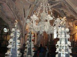 Bone Church from the Sedlec Ostuary, Czech Republic. Taken on a school trip in 2010.