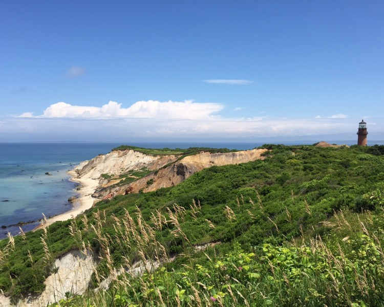 The Stunning Clay Cliffs and Light on Martha's Vineyard