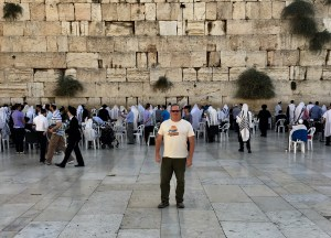 Lots of waling at the Kotel