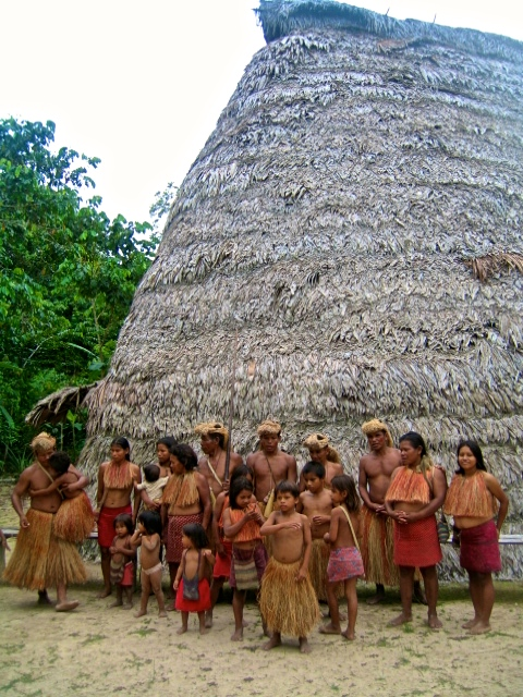 Yagua tribe in the Amazon rainforest Peru