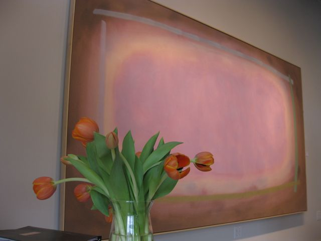 William Perehudoff large abstract painting