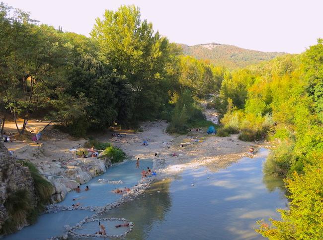 Natural thermal springs around Petriolo Terme