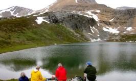 Hiking in Banff at Helen Lake
