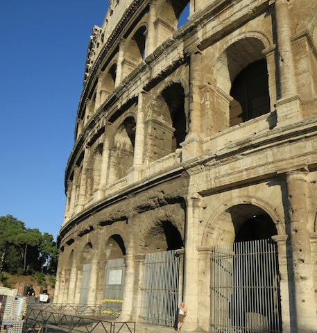 View of the walls, is the Roman Colosseum falling down?