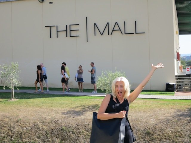Shopping in Florence, Italy, at The Mall Outlet Centre