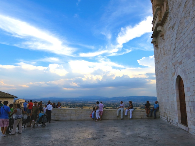 Visiting Assisi, view from Piazza del Loge