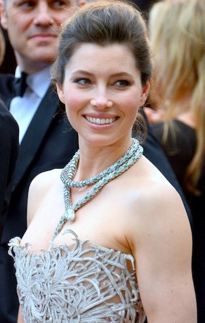 Jessica Biel at Austrian spa