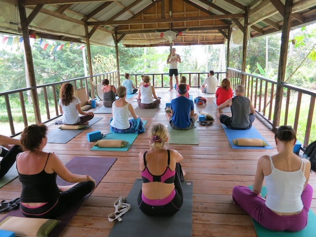 Yoga class in Thailand. Am I the only person who hates yoga?