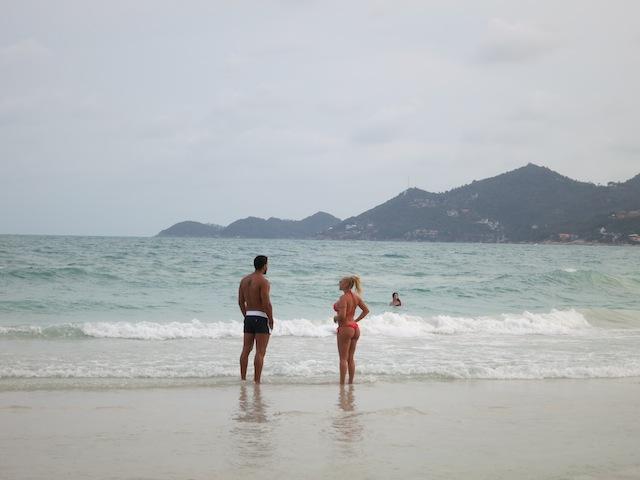 Beach scene in Koh Samui - hot body