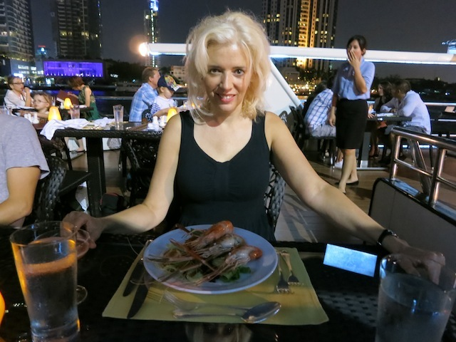 Shellfish on Shangri-La Hotel Bangkok dinner cruise