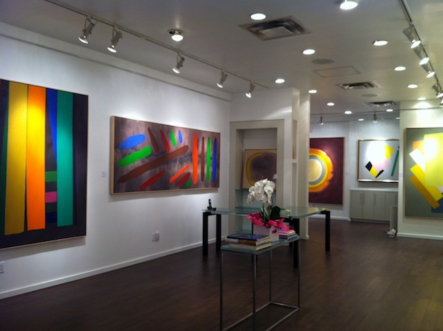 Abstract paintings by William Perehudoff in Han Gallery
