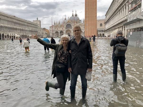 Wandering Carol high water in Venice