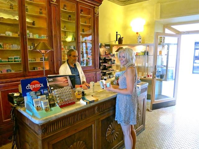 Charming Italian pharmacy in Tuscany