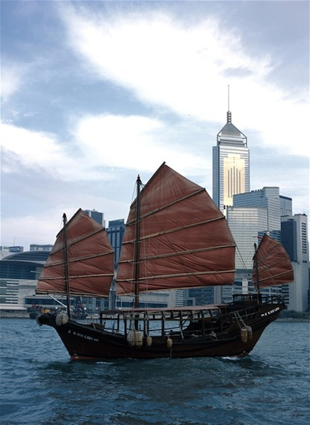Hong Kong day tours traditional boat ride